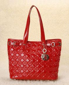 Dior Panarea in red patent leather