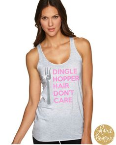 Dingle Hopper Hair Dont Care Glitter Shirt  You will love our Dingle Hopper Hair Dont Care Glitter Shirt! Perfect for all ages. This glitter