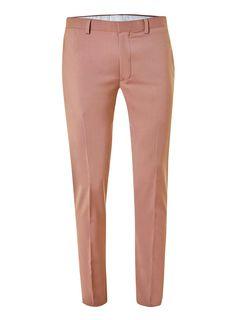 Pantalon de costume ultra-skinny rose clair
