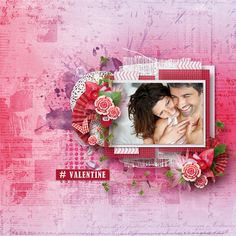 Love the purple and red in Sweetest Heart by #WendyPDesigns.  These are gorgeous pages!  #thestudio #digitalscrapbooking