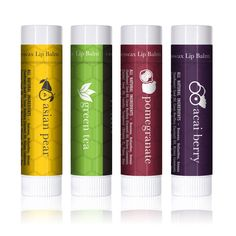 Amazon.com : LIP BALM Uniquely Refreshing Exotic Flavors (4 Pack) - Beauty by Earth 100% Natural Beeswax Lip Care with Coconut Oil &Vitamin Moisturizer to Repair Dry and Chapped Lips - Made in the USA : Beauty