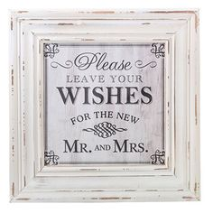 "$33 -This decorative addition to the reception can be hung near the wishes cards and card box and used to frame a favorite wedding picture in the home. It measures 18"" x 18"" and can hold a 11.75"" x 11.75"" picture."