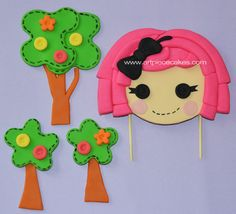 Lalaloopsy Inspired Cake Topper by ArtPieceCakes on Etsy, $50.00