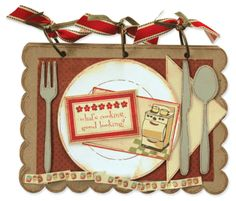 New Recipe Album die designed for AccuCut Craft by Vicki Chrisman