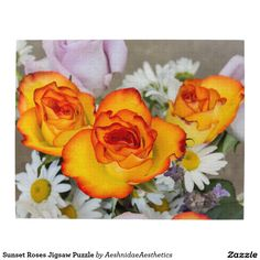 Sunset Roses Jigsaw Puzzle