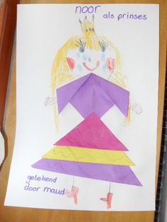 Vouwen - verkleed als... Rapunzel, Origami, Castle, Princess Zelda, Learning, Fictional Characters, Dads, Carnival, Fantasy