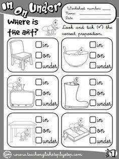 Place Prepositions - Worksheet 1 (B&W version)