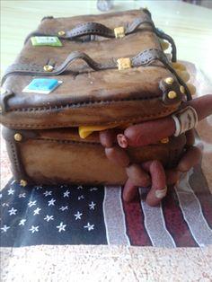 Fondant suitcase