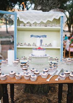 cake + cupcakes   photo by Michele Suits