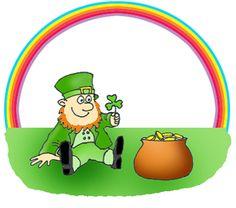 St Patrick's Day #Rainbow Clip art http://goo.gl/fb/dU3yfx  #3dartwork #2015 #clipart #stpatricksday