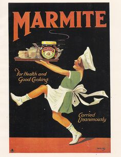 Marmite poster, c1935 by mikeyashworth, via Flickr