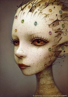 Kai Fine Art is an art website, shows painting and illustration works all over the world. Surrealism Painting, Pop Surrealism, Fantasy Kunst, Fantasy Art, Sketch Manga, Photo Images, Paperclay, Art Graphique, Art Plastique