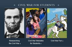 Civil War for Students - A wide variety of student and teacher resources including research tools, quizzes, maps, and photo collections