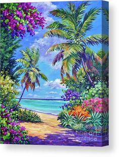 Seascape Paintings, Landscape Paintings, Beautiful Paintings, Beautiful Landscapes, Palm Tree Art, Palm Trees, John Clark, Clark Art, Hawaiian Art
