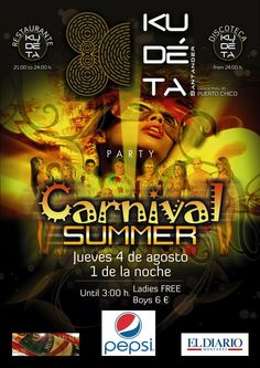 Cartel Kudéta Santander. Carnaval Summer Party.