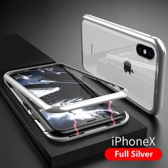 Magnetic Adsorption Metal Tempered Glass Case Cover For iPhone 11 Pro Max Cell Phone Cases, Iphone Cases, Iphone 11, Iphone Bumper Case, Magnetic Frames, Marble Case, Silicone Phone Case, Tempered Glass Screen Protector, 6s Plus