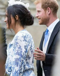 The Duke & The Duchess of Sussex attended the wedding of Princess Diana's niece, Celia McCorquodale, The Duke's cousin, at St Andrew and St Mary's Church in Stoke Rochford, Lincolnshire. || June 17th, 2018