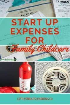 startup expenses for home daycare