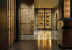 Public Space Modern Vertical Indirect Light Shelves   Yabu Pushelberg