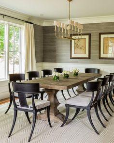 black salvaged wood dining table, Restoration Hardware Salvaged ...