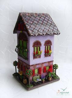 """Купить Чайный домик """"Садовника"""" - чайник домик, шкатулка, чайные церемонии, полимерная глина Miniature Houses, Stone Art, Clay Art, Etsy Handmade, Bird Houses, Dollhouse Miniatures, Diy Furniture, Gingerbread, Decoupage"""