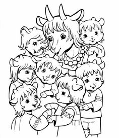 Coloring For Kids, Coloring Pages, Childrens Cupcakes, Wood Carving For Beginners, Fairy Tales For Kids, Wolf, Rainy Day Activities, Fruit Art, Dramatic Play