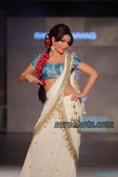 Love her bollywood retro hairstyle - Soha Ali Khan in a bollywood retro lehenga