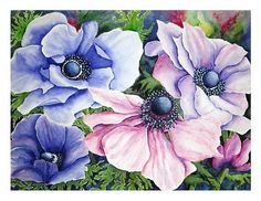"Maria Inhoven, ""Anemonen"" (44) With a click on 'Send as art card', you can send this art work to your friends - for free!"