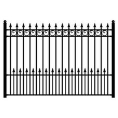 Aleko DIY Steel Iron Wrought High Quality Ornamental Fence - London Style - x 5 Ft, Black