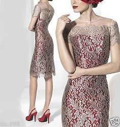 Mother Of The Bride Outfit Lace Knee Length Women Dress Groom Mother Dress 2017