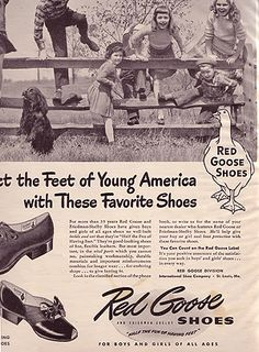 children's Red Goose shoes ca 1945