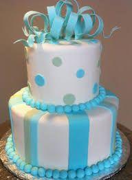Resultado de imagen para 10 8 6 baby shower cake