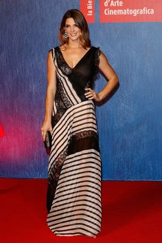 Ashley Greene wore an #AlbertaFerretti Resort 2017 striped lace gown to the #InDubiousBattle premiere at #Venezia73. The Fashion Court (@TheFashionCourt) | Twitter
