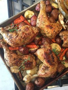One Tray Herbs de Provence Roast Chicken and Vegetables