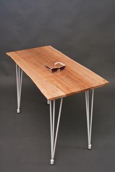 compact reclaimed elm desk