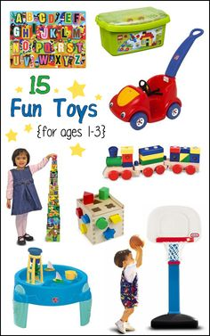 Need gift ideas? Here are 15 fun toys for 1-3 year olds that are well worth the money spent. They are my kids favorite/most played with toys