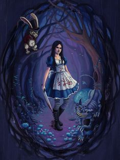 Alice by jessicasalehi.deviantart.com...love this take on it!! Dark and Twisted...my kinda Wonderland ;)