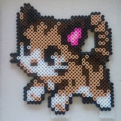 Cat hama beads by  sandreta_nez