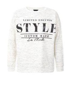 Stone Style Slogan Sweater  | New Look