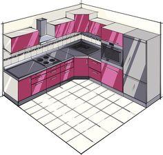 Basic L-Shaped Kitchen Plan