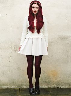 CHERRY CHEESECAKE. (by Megan McMinn) http://lookbook.nu/look/4491639-CHERRY-CHEESECAKE