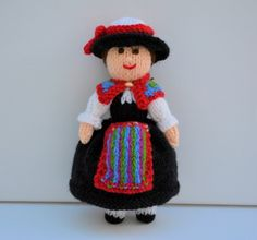 Swiss Folk Knitted Doll - Toy Knitting Pattern by Joanna Marshall, £2.60 GBP