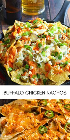 Crunchy tortilla chips are loaded with tender chicken, drenched in a spicy buffalo ranch sauce and smothered in cheese for the ultimate game day snack. These Buffalo Chicken Nachos are easy to whip up and are sure to please your hungry crowd! #easyrecipes #dinner #chickenrecipes #food #cooking #chicken #easy #recipe Buffalo Chicken Nachos, Buffalo Ranch, Game Day Snacks, Chicken Tenders, Tortilla Chips, Easy Chicken Recipes, Crowd, Spicy, Easy Meals