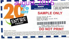 Free Printable Coupons: Bed Bath and Beyond Coupons
