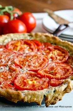 Tomato and Rosemary Tart with Goat Cheese