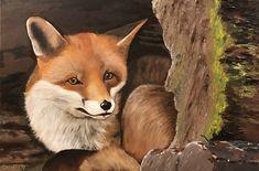 Vos, olieverf 2017 Animals, Animales, Animaux, Animal, Animais, Dieren