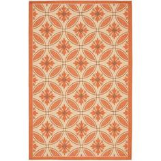 Safavieh Courtyard 4-ft x 5-ft 7-in Rectangular Beige Transitional Indoor/Outdoor Area Rug  Item #: 404473 |  Model #: CY7844-11A7-4  $75.13