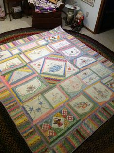 Another view of the Old Linens Quilt by my mom Kay Lea.