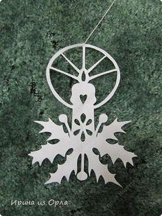 Трафареты для вырезания украшений на Новый год