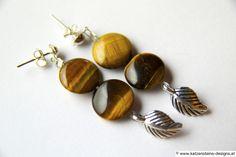 Ohrringe Tigerauge Design Shop, Shops, Stud Earrings, My Favorite Things, Jewelry, Earrings, Creative Products, Gems Jewelry, Studs
